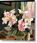 A House And Garden Cover Of Rhododendrons Metal Print