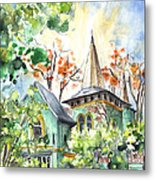 A House In Our Street In Budapest Metal Print
