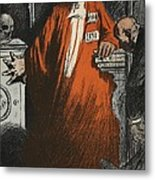 A Judge In Full Garments, Illustration Metal Print