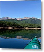 A Kayaking Calm Metal Print