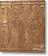 A King Carved In Wood Metal Print