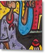 A King Messenger Blowing Flute Metal Print