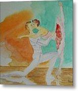 A Kiss In Ballet  Metal Print