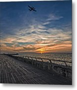 a kodak moment at the Tel Aviv port Metal Print