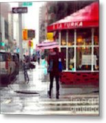 A La Turka In The Rain - Restaurants Of New York Metal Print
