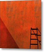 A Ladder And Its Shadow Metal Print