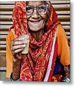 A Lady And Her Chai II Metal Print
