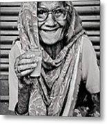 A Lady And Her Chai IIi Metal Print
