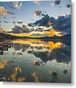 A Lake Pend Oreille Sunset  -  120601a-040 Metal Print