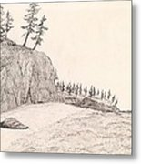 A Lakeshore... Sketch Metal Print