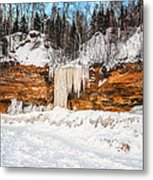 A Land Of Snow And Ice Metal Print