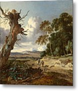 A Landscape With Two Dead Trees Metal Print