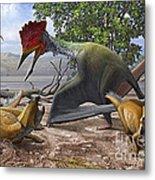 A Large Bakonydraco Pterosaur Attacking Metal Print by Sergey Krasovskiy