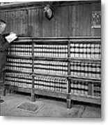 A Lawyer In His Library Metal Print