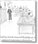 A Lawyer Makes His Case In Front Of A Jury Metal Print