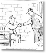 A Lawyer With A Briefcase Shakes The Hand Metal Print by Mike Twohy