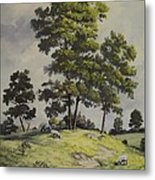 A Lazy Day For Grazing Metal Print