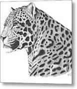 A Leopard's Watchful Eye Metal Print