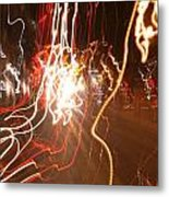 A Light Dance In Old Town Metal Print