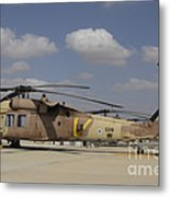 A Line Of Uh-60l Yanshuf Helicopters Metal Print