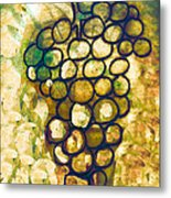 A Little Bit Abstract Grapes Metal Print