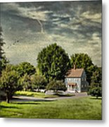 A Little Blue House Metal Print