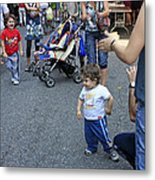 A Little Boy Dancing At The 200th Anniversary Of St. Patrick Old Cathedral Metal Print