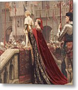 A Little Prince Likely In Time To Bless A Royal Throne Metal Print by Edmund Blair Leighton
