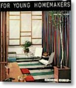 A Living Room With Flor-ever Tiles Metal Print