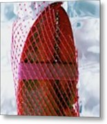A Lobster Claw In Red Packaging Metal Print