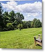 A Lone Chair In August Metal Print