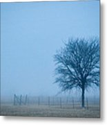 A Lone Tree In The Fog Metal Print