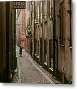 A Lonely Walk Home Metal Print