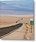 A Long Road Through Death Valley Metal Print