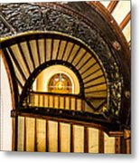 A Look Up The Stairs Metal Print