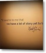 A Lot Of Stories Metal Print