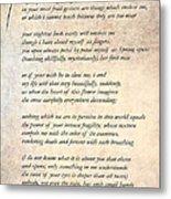 A Love Poem Metal Print