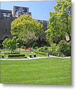 A Lovely View Of A Little Garden At The United States Military A Metal Print