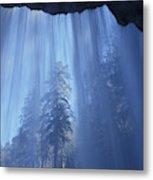 A Low Angle View Of Vernal Falls, North Metal Print