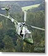 A Lynx Mk 7 Helicopter Metal Print