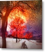 A Magic Winter Metal Print