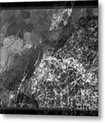 A Magical Face In The Water Abstract Black And White Painting Metal Print