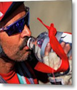 A Man Drinking Water Metal Print