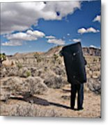 A Man Looks Into The Distance Metal Print