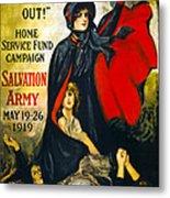 A Man May Be Down . . .   1919 Metal Print