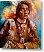 A Man Of Peace Metal Print by Ellen Dreibelbis