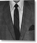 A Man Wearing A Suit Metal Print