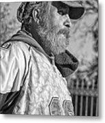 A Man With A Purpose Monochrome Metal Print