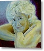 A Masters Touch Metal Print by Sharon Burger