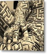 A Maze Ing Man 4 Sepia Metal Print